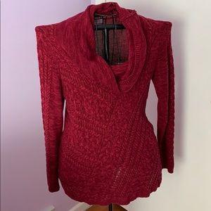 Beautiful thick red maternity sweater, size Large.